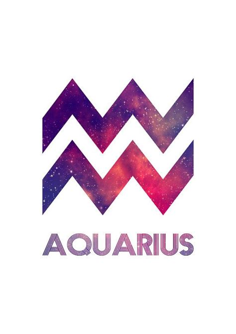 aquarius zodiac star sign horoscope symbol by