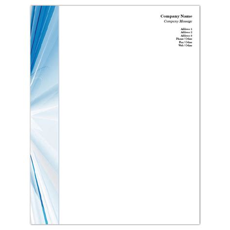 order business letterhead order customizable letterhead blue rays iprint