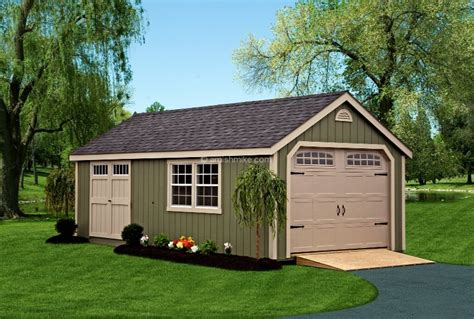 New Garage New Garages Amish Mike Amish Sheds Amish Barns