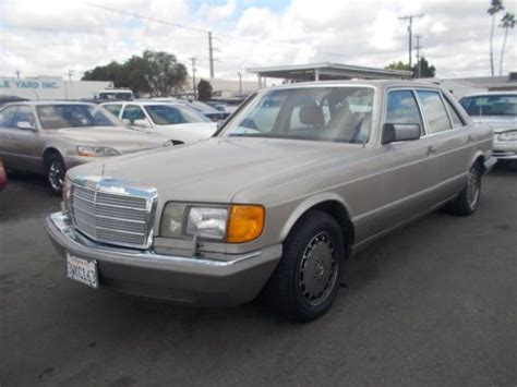 how to sell used cars 1987 mercedes benz e class engine control sell used 1987 mercedes 420sel no reserve in anaheim california united states