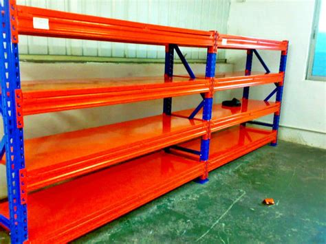 blue orange cold rolled heavy duty pallet racking with