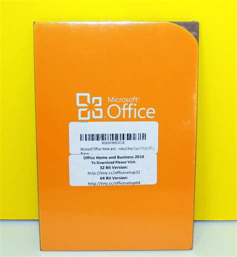 microsoft office home and business 2010 product key 1pc