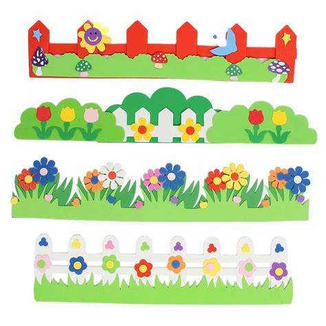 Online Shopping For Home Decoration by Children Kids Foam Flower Grass Garden Railings