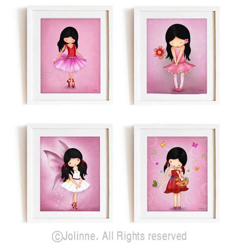 Girls Bedroom Decor Ideas wall art prints pink nursery decor art posters for kids