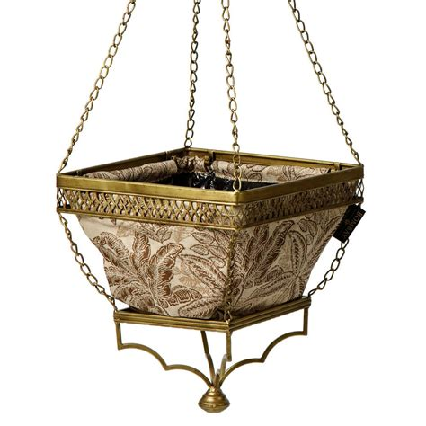 Planter Liner Home Depot by Bombay Outdoors Gold Hanging Planter With Mocha