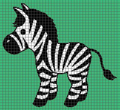 zebra graph pattern zebra graph and row by row written crochet instructions