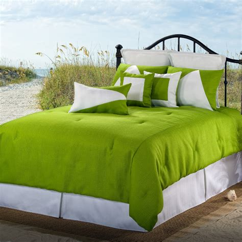latitude 13 green white twin comforter set free shipping