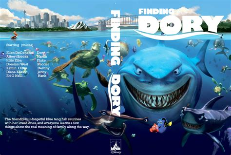 Finding On The Finding Dory Dvd Cover Label 2016 R0 Custom