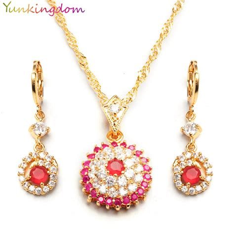 yunkingdm luxury brand cubic zirconia jewelry sets