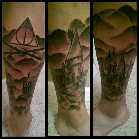 finished hogwarts leg sleeve harrypotter