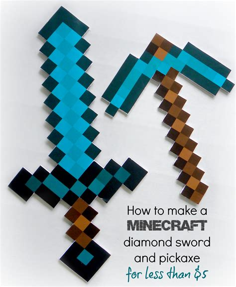 How To Make A Paper Minecraft Sword - minecraft crafts for