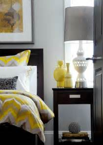 Gallery for gt yellow and grey and black bedroom
