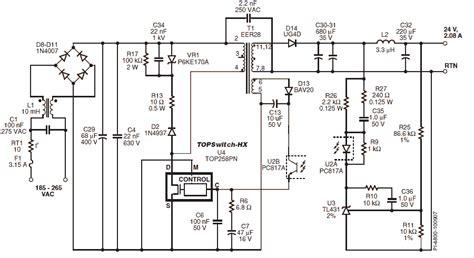 24v smps circuit diagram power integrations reference smps power supply designs