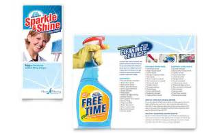 Cleaning Brochure Templates Free by House Cleaning Housekeeping Brochure Template Design