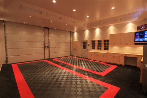 home garage workshop with racedeck garage flooring wall awesome home garage remodel with racedeck garage flooring