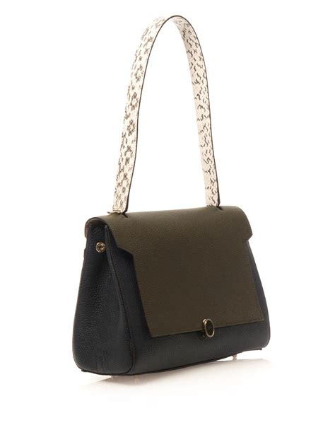Anya Hindmarch Need Bags by Lyst Anya Hindmarch Bathurst Leather Shoulder Bag In Green
