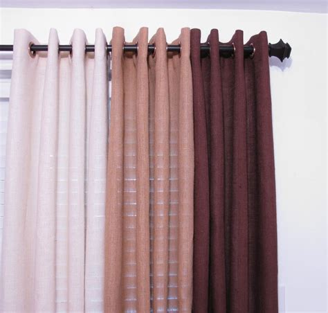 burlap curtains with grommets www etsy com bedroom curtain burlap drapery