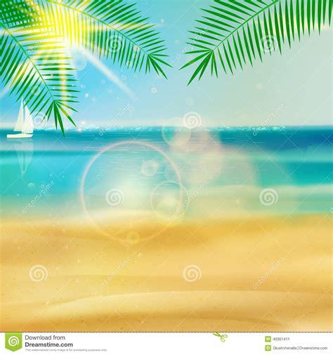 tropical beach template stock photo image 40361411