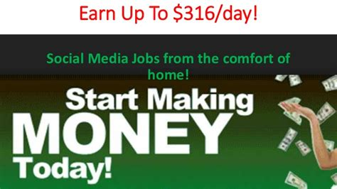 social media real ways to make money from home