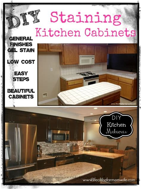 diy staining kitchen cabinets pin by marci lifeofthefarmerswife com on diy pinterest