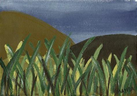 acrylic painting grass acrylics mountains grass original acrylic painting