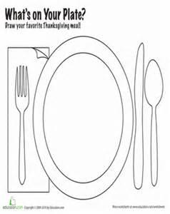 draw thanksgiving dinner worksheet education