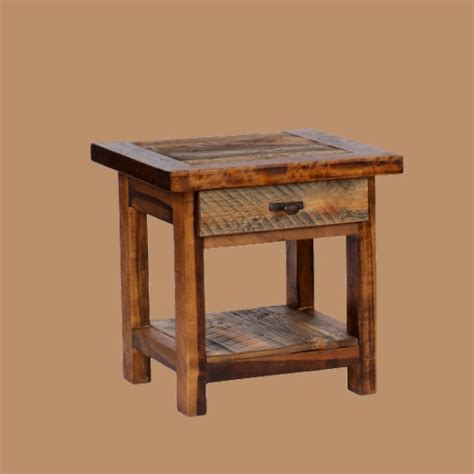 reclaimed wood end table wyoming reclaimed wood end table