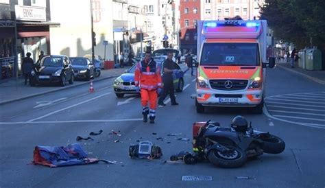 Motorradunfall Wuppertal schwerer motorradunfall in wuppertaler city