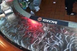 Cool Bar Top Ideas by Steel Drink Rail Sunset Metal Fab Inc