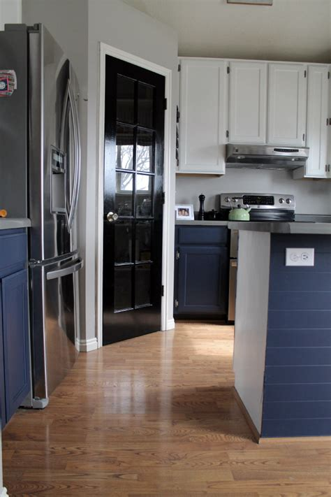 bottom kitchen cabinets navy painted base cabinets chris loves julia