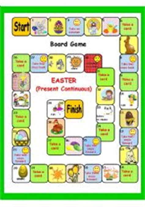printable easter board games english teaching worksheets easter games