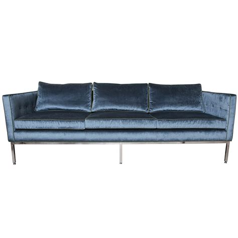 blue velvet sofa blue velvet sofa at 1stdibs