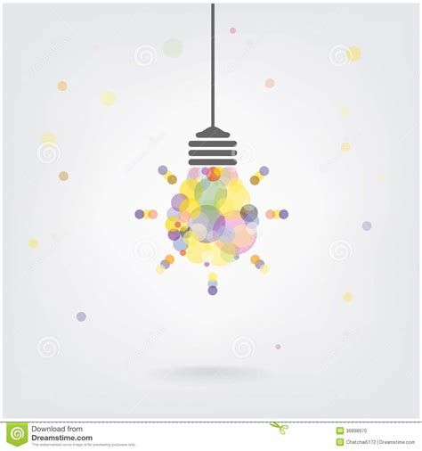 poster design background vector creative light bulb idea concept background stock vector