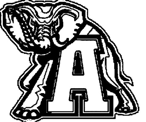 Alabama College Football Free Coloring Pages Alabama Football Coloring Pages