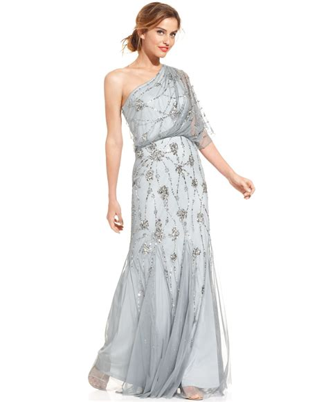 beaded one shoulder gown one shoulder beaded gown other dresses dressesss
