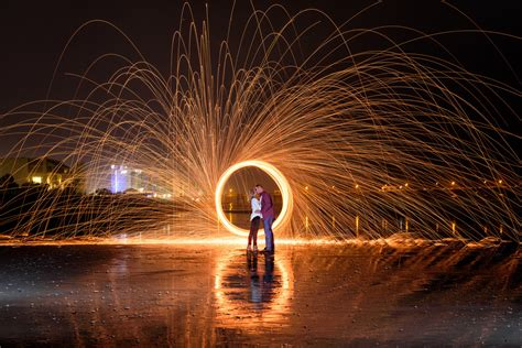 light painting with steel wool and exposure