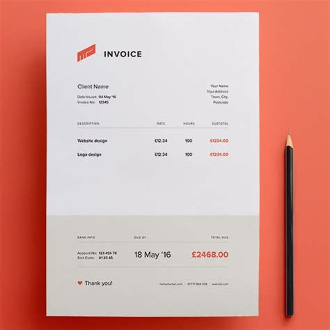 receipt design template psd top 10 best free professional invoice template designs in