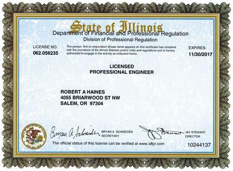 design engineer license haines engineering consultants llc registration