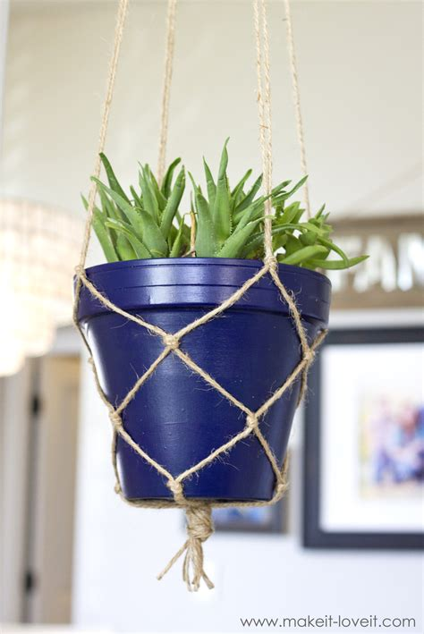 Make A Plant Hanger - how to make a simple rope plant hanger make it and it