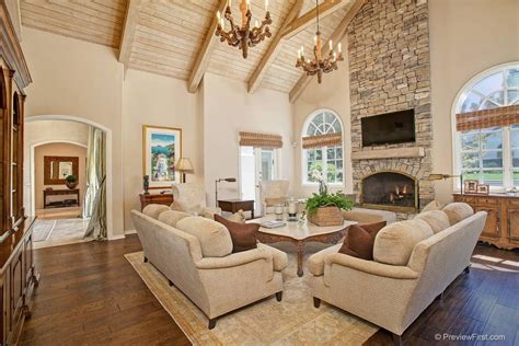 Cathedral Living Room by Traditional Living Room With Cathedral Ceiling By