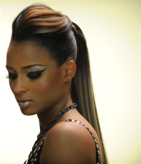 black updo ponytails ciara with a ponytail hair pinterest bobs hair and