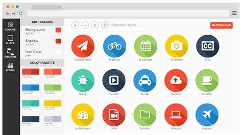 design icon generator flat shadow icons generator icons fribly