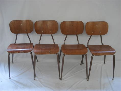Mid Century Modern Kitchen Chairs retro wood kitchen school dining chairs mid century modern vintage wooden chrome desk classroom