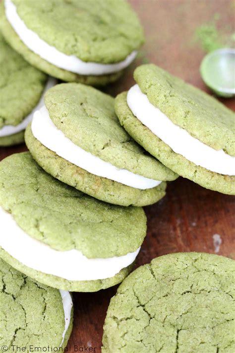 Cookies Almond Greentea Milk Bandung matcha almond sandwich cookies the emotional baker