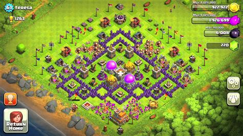 clash of clans strategy level 7 farming base design town hall clash of clans town hall level 7 defense for farmers