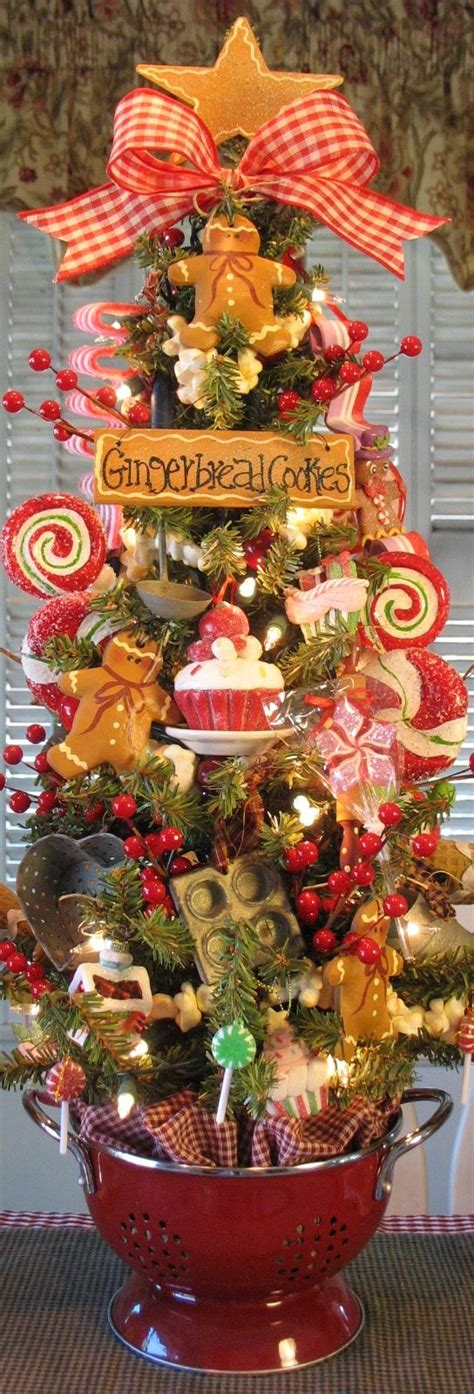 kitchen christmas tree ideas details about primitive gingerbread cookie baking tree in