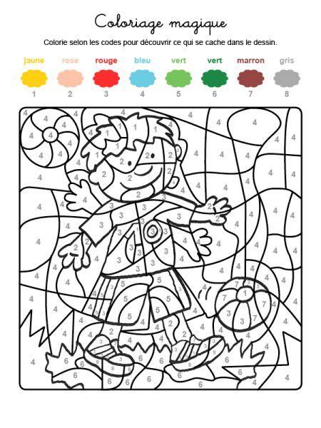 Coloriage Magique D Un Enfant Qui Joue Coloriage Magique Fusee Voir Le Dessin L