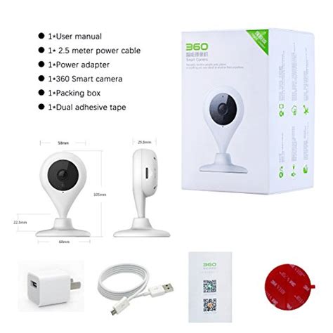 360 smart wireless wifi security ip 720p home