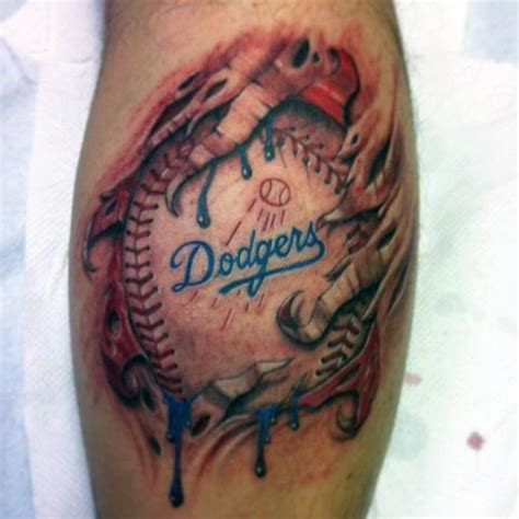 dodgers tattoos 60 los angeles dodgers tattoos for baseball ink ideas