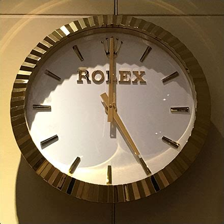 Rolex Wall Clock 2 rolex as branded wall clock fixtures up
